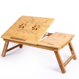 DGB Jumbo Wooden Laptop Table with Cooling Fan