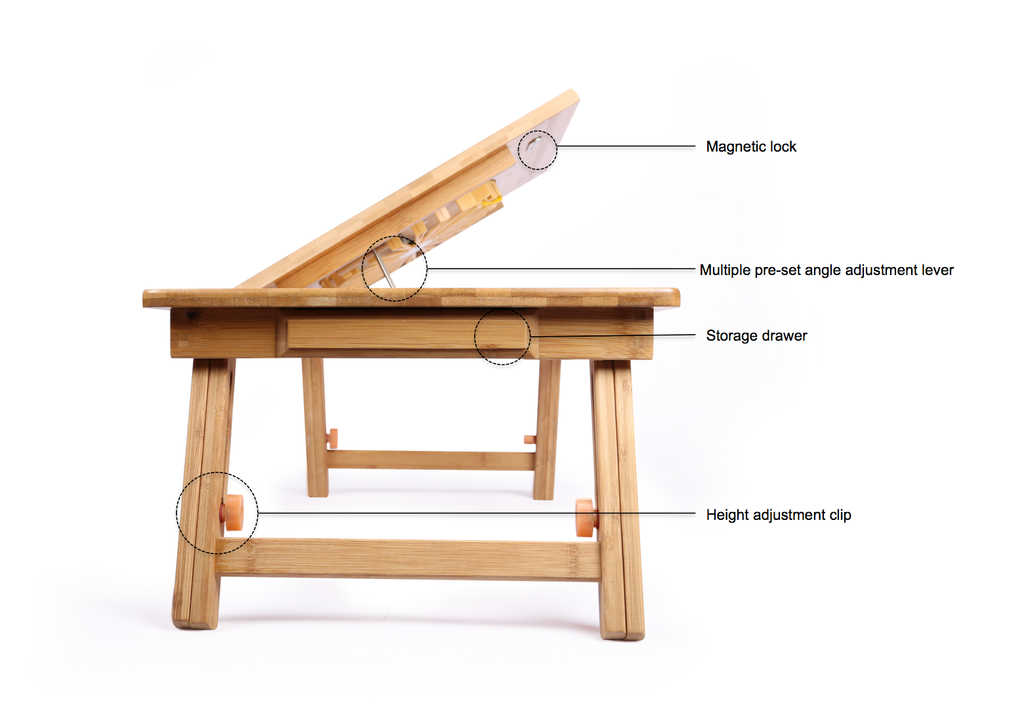 DGB Jumbo Dual Wooden Laptop Table With Cooling Fan